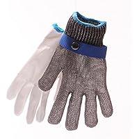1 piezas de seguridad cortadas Guante de alambre de acero Anti-Cutting Anti-corrosion One Size Level 5 Protection Glove