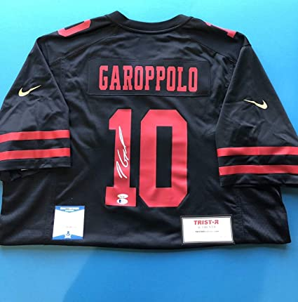 finest selection 9470f 5e41d Jimmy Garoppolo Autographed Signed Nike San Francisco 49ers ...