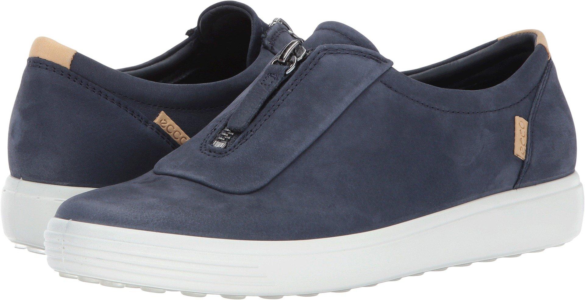 ECCO Women's Women's Soft 7 Zip Fashion Sneaker, Marine Nubuck, 36 EU/5-5.5 US