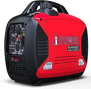 A-iPower SUA2000iV Super Quiet 2000-Watt Portable Inverter Generator CARB/EPA, 2000 Watt, RV Ready