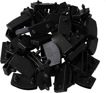 RDEXP - 50 tapas de plástico para sujetar y asegurar las lamas de madera del somier, color negro