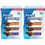 Pure Protein Bar Variety Pack (6 Chocolate Peanut Butter, 6 Chewy Chocolate Chip, 6 Chocolate Deluxe), 2 Pack (18 Count of 1.76 Oz bars)