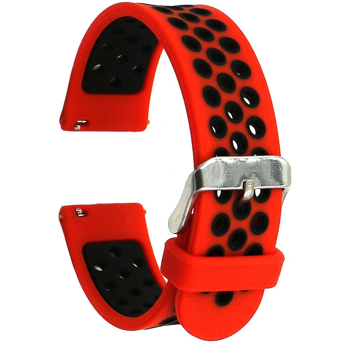 Elespoto 20mm Correa para Motorola Moto 360 2 generación 42 mm/Samsung Gear S2 Classic/Gear Sport/Huawe Watch 2 Sport/Withings Steel HR 40mm Reloj ...