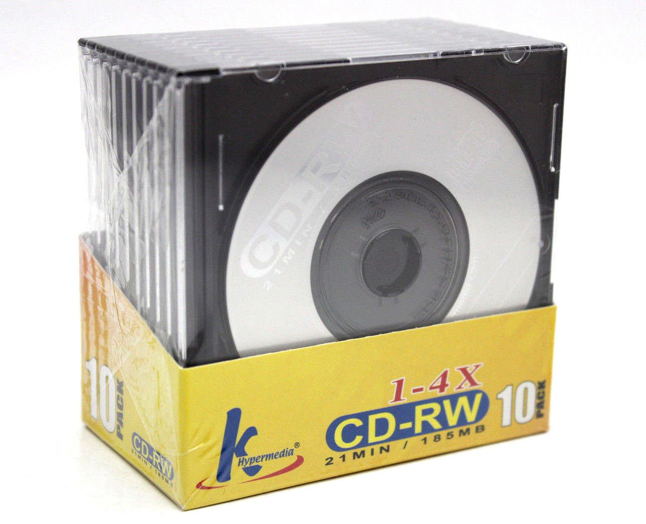 (10-Pack) Mini CD-RW Rewritable 21min 185mb 8cm CDR CD Blank Compact Disc + Jewel Case 717s3Gh2B5sL