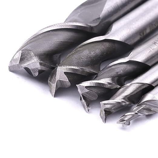 3 Flute High Speed Steel Straight Shank End Mill Cutter Drill Bit 3//6//8//10//12mm