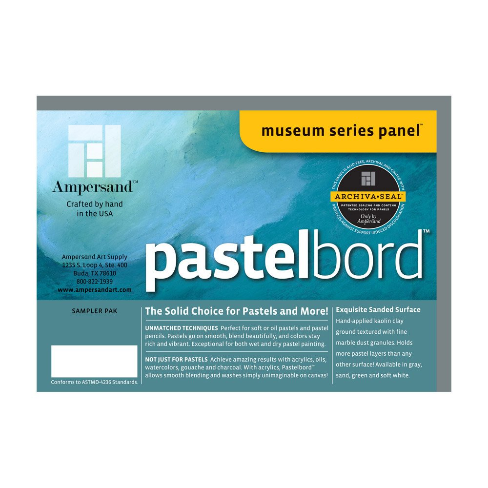 Pastelbord Assorted 1/8 Inch 4/Pack MACPHERSON