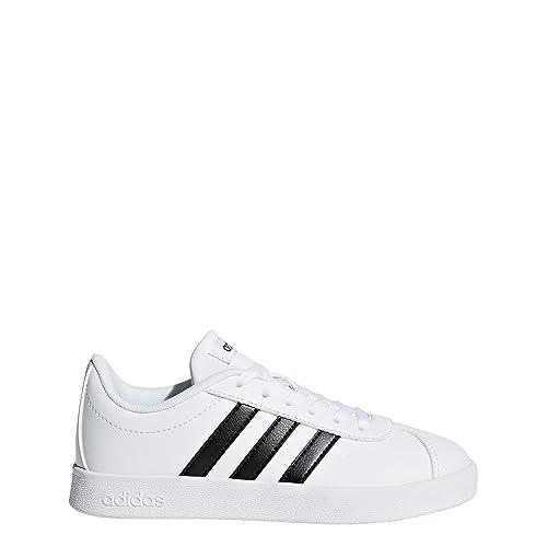 5b0ff22fb77 Adidas Kids  VL Court 2.0 CMF Sneakers Black  Amazon.ca  Shoes ...