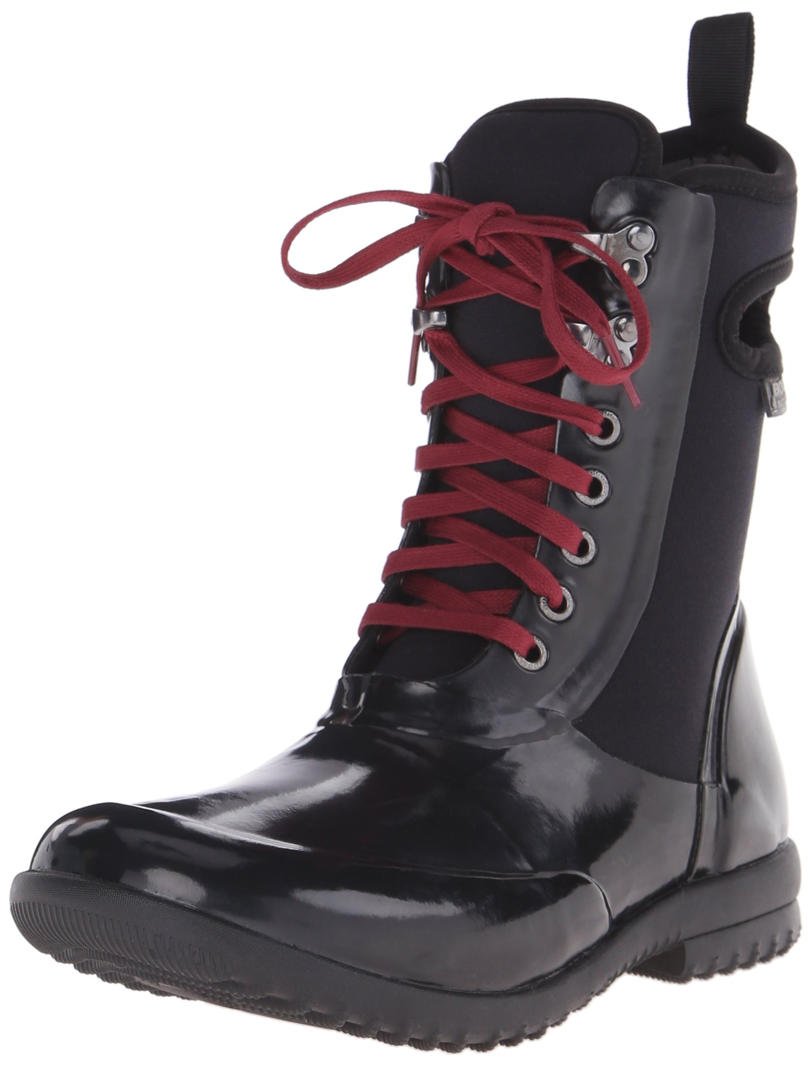 Bogs Women's Sidney Lace Solid All Weather Rain Boot, Black