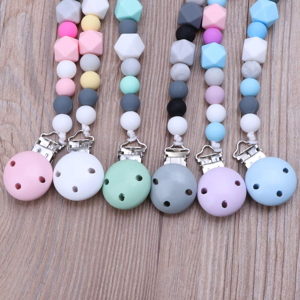 Amazon.com : CHBC Baby Dummy Chain Silicone Pacifier Clips ...
