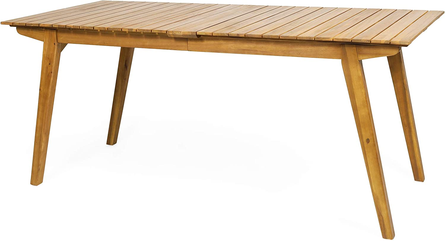 Christopher Knight Home 313209 Hannah Outdoor Rustic Acacia Wood Dining Table, Teak