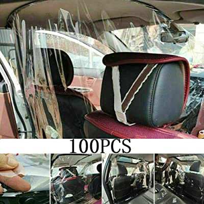 Car Taxi Isolation Film Plastic Anti-Fog Dust Anti-Droplet Full Surround Protective Cover Front and Rear, Automotive Protective Shields Easy to Install for Driver and Passenger Protection: GPS & Navigation [5Bkhe0811445]