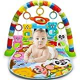 AimdonR Baby Esterilla de fitness, Baby Fitness juguete, Piano de juguete, Padres Niño experiencia, Baby cognición, animales, detección recién nacidos 6 - 36 meses