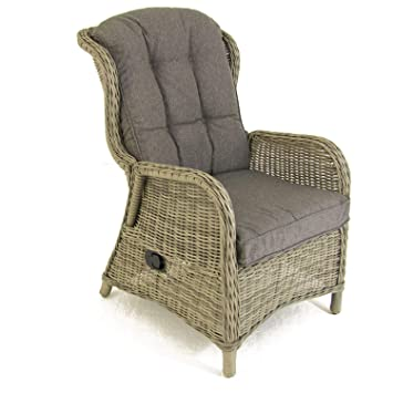 Pack 2 sillones reclinables para jardín | Aluminio y rattán ...
