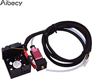Aibecy 24V Assembled Hotend Extruder Kit with 0.4mm Nozzle Aluminum Heating Block 3D Printer Parts Compatible with Creality Ender 3 Ender 3 Pro 3D Printer