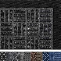 DEXI Outdoor Door Mat, 29x17 Durable Rubber Doormat for Indoor Outdoor, Heavy Duty, Waterproof, Low-Profile Front, Back…