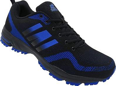 Zapatillas deportivas para hombre, talla 47 – 50, número 1388, color negro y azul, color Negro, talla 50 EU: Amazon.es: Zapatos y complementos