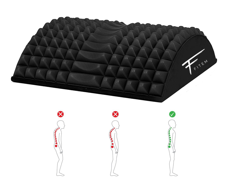 Fitem - Dispositivo curvado para enderezar la espalda y las lumbares, corrector de postura con