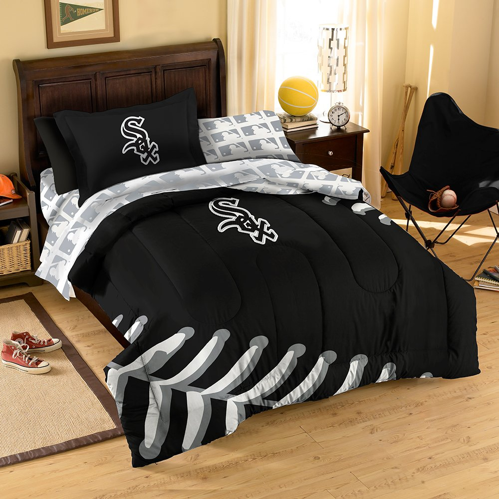 Amazon.com : MLB Chicago White Sox Twin Bedding Set : Sports Fan Bed In A  Bag : Sports U0026 Outdoors