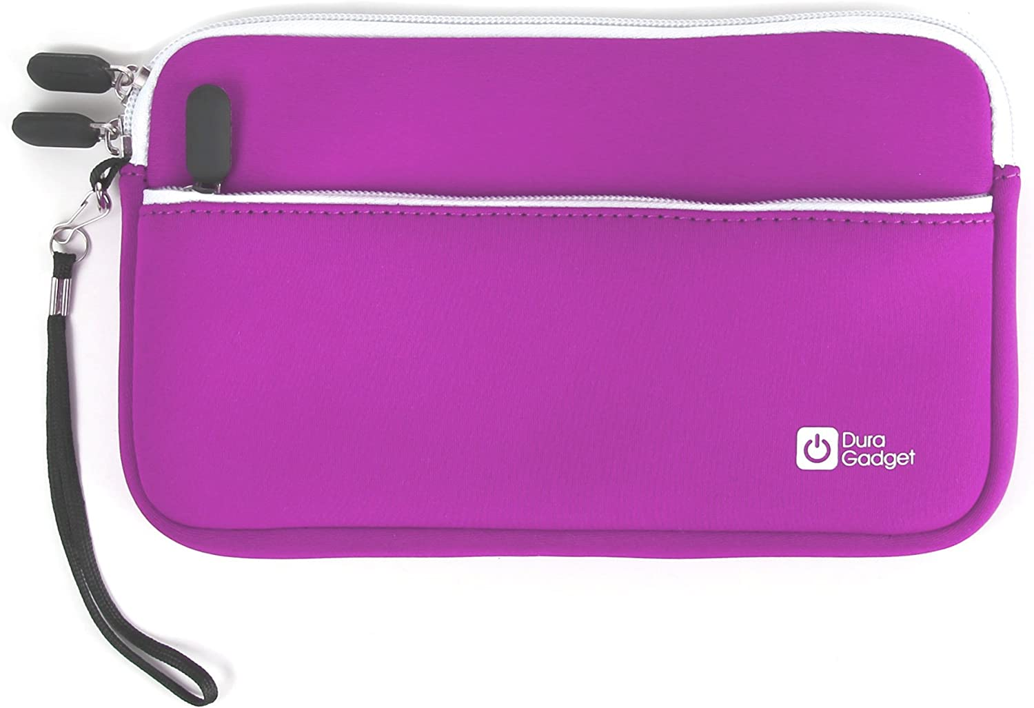 DURAGADGET Premium Quality Water Resistant Travel Pouch-Style Case in Purple Neoprene - Compatible with Dell Venue 8 16GB Android 4.2 Tablet (Black)