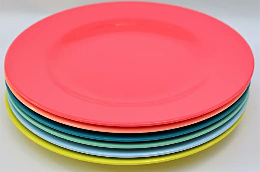 Juego de 6 platos de melamina, de Rice DK. Redondos. En 6 colores ...