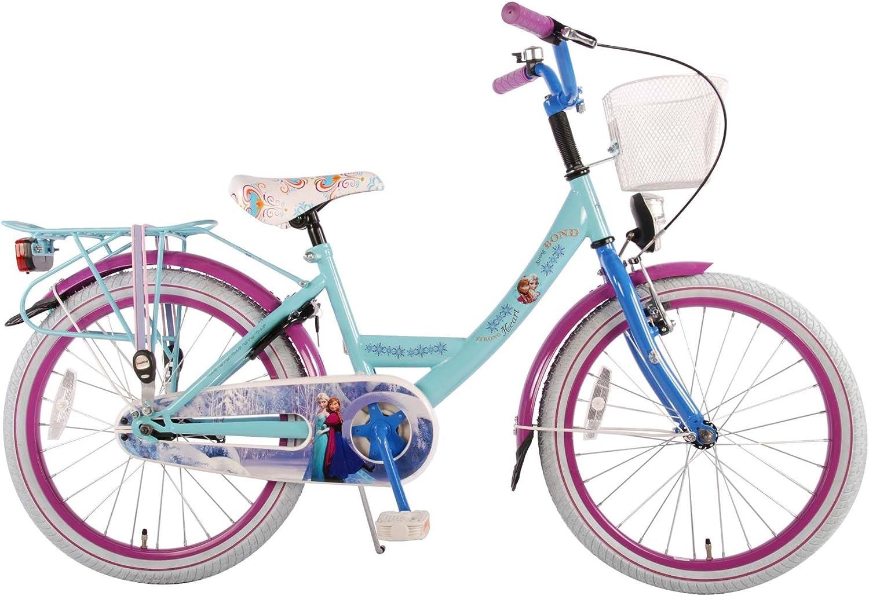 Bicicleta para niña Disney Frozen 20 pulgadas 6 7 8 años cesta ...