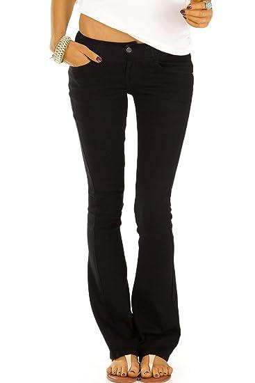 bestyledberlin Damen Boot Cut Jeans, Schlaghosen, Ausgestellte Hüftjeans j74kw