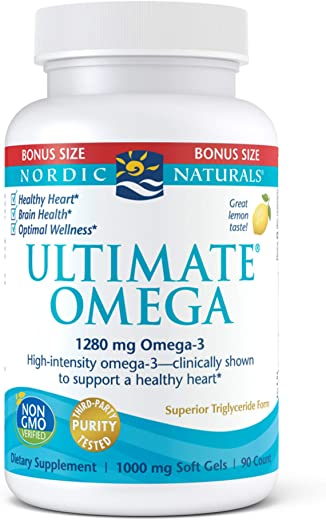 Nordic Naturals Ultimate Omega SoftGels - Concentrated Omega-3 Burpless Fish Oil Supplement...