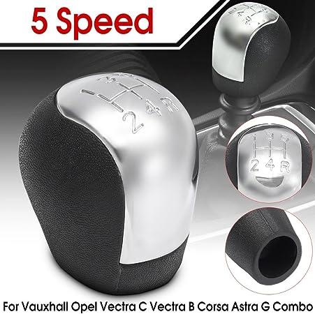 Toogoo Chrom Abs 5 Gang Auto Schaltknauf Opel Vectra C Corsa Astra G Combo Verchromt 2002 2003 2004 2005 Auto