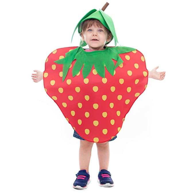 Boo! Inc. Sweet Strawberry Halloween Costume for Kids | Unisex (3-4)