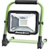 PWLR1120F 20W 1800 Lumen Cordless Foldable Portable Metal Stand, Lithium Ion Battery LED Work Light for Camping, RV, Marine, Boating, with USB Port for Mobile Device Charging