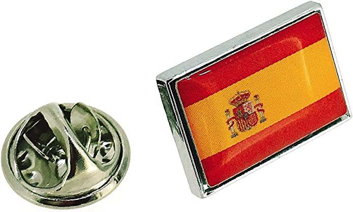 Pin de Solapa Bandera Nacional del Reino de España: Amazon.es: Joyería