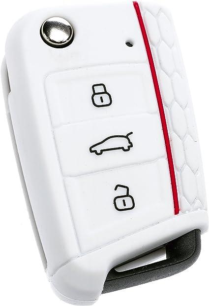 Coque de protection de qualit/é en silicone pour cl/é de voiture pliante