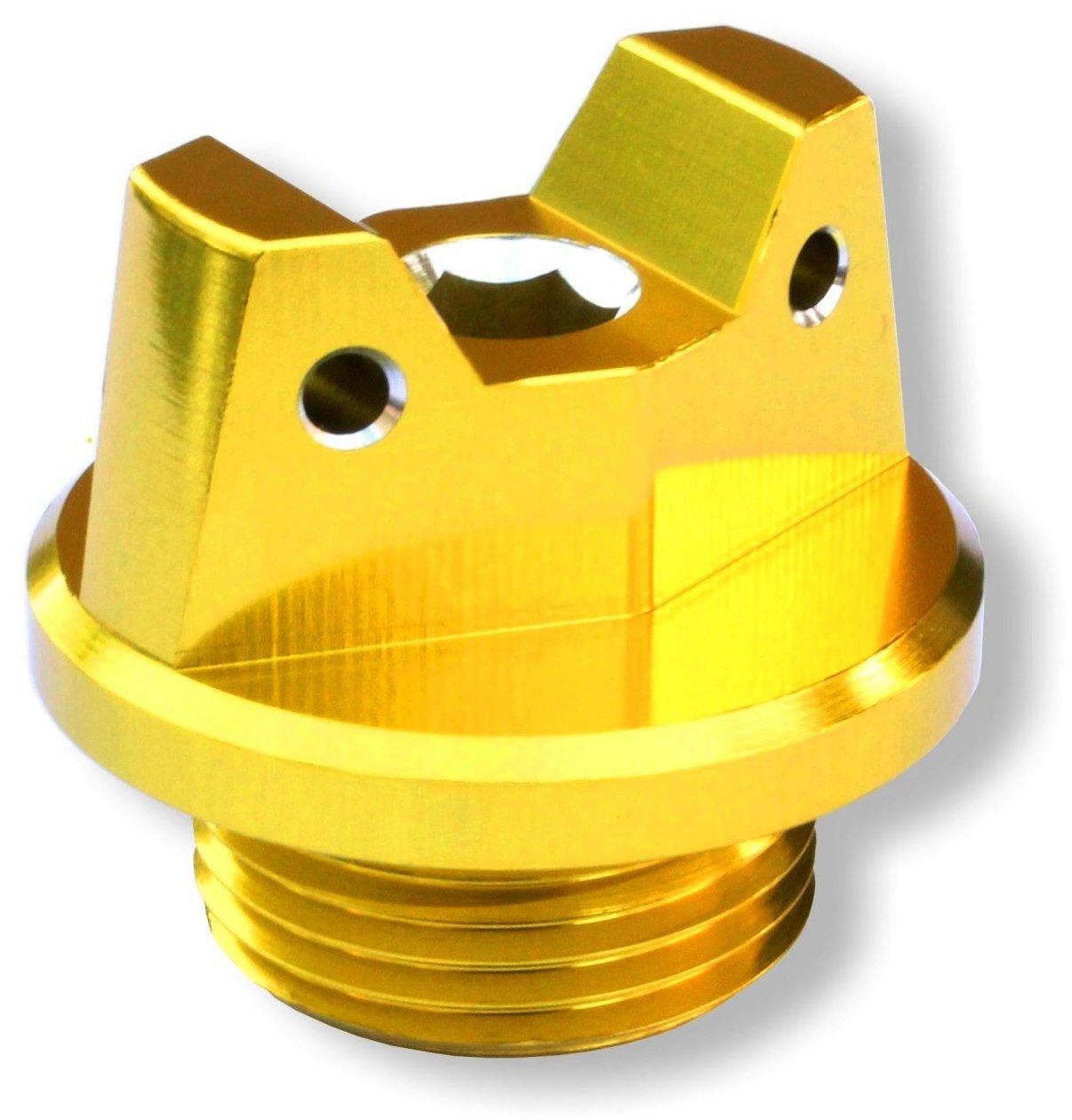 MotoSculpt Oil Fill Cap Plug (GOLD) for Suzuki GSX-R GSXR 600 750 1000 1100 1300 SV650 SV1000 TL1000