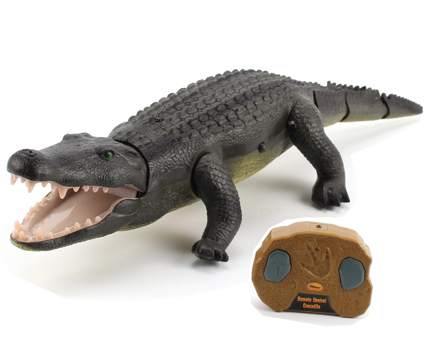 Top Race Remote Control Crocodile, Prank Crocodile RC Animal Toy, Looks Real Feels Real Roars and Moves Like a Real Crocodile (TR-Croc) by Top Race