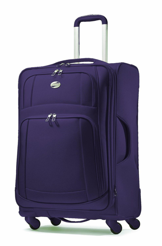 e4fafdf4c80 American Tourister Luggage Ilite Supreme 29 Inch Spinner Suitcase (Indigo  Purple): Amazon.co.uk: Clothing
