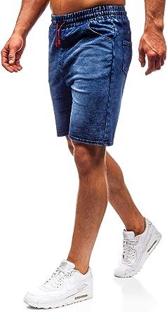 Image ofBOLF Hombre Pantalón Corto Pantalones Vaqueros Denim Regular Pantalón de Algodón Pantalón Deportivo Estilo Casual 7G7