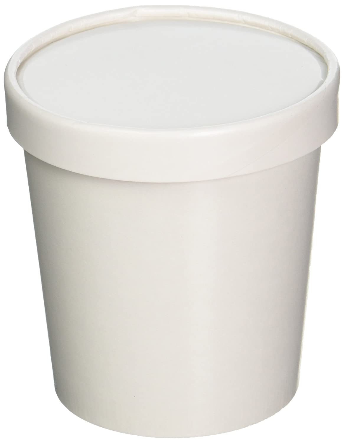 Amazoncom 25ct White Pint Frozen Dessert Containers 16 oz Kitchen