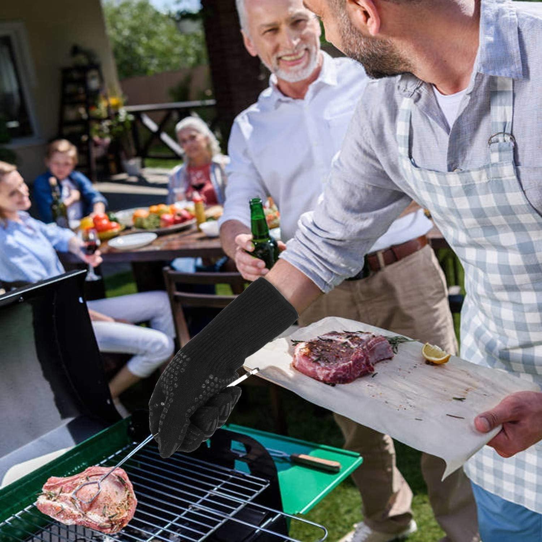 ,Umweltfreundlichem Silikon Extrem Hitzebest/ändige Topflappen bis zu 800 /°C 1 Paar Premium Anti-Rutsch Grillhandschuhe Love begans Grillhandschuhe Ofenhandschuhe