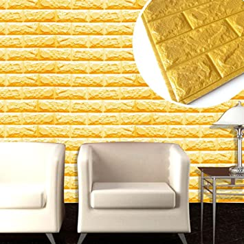 Vinilo mural decorativo, diseño de ladrillos de piedra kingko® en relieve papel pintado 1PC espuma de poliuretano 3D Pegatinas de Decoración de pared, ...