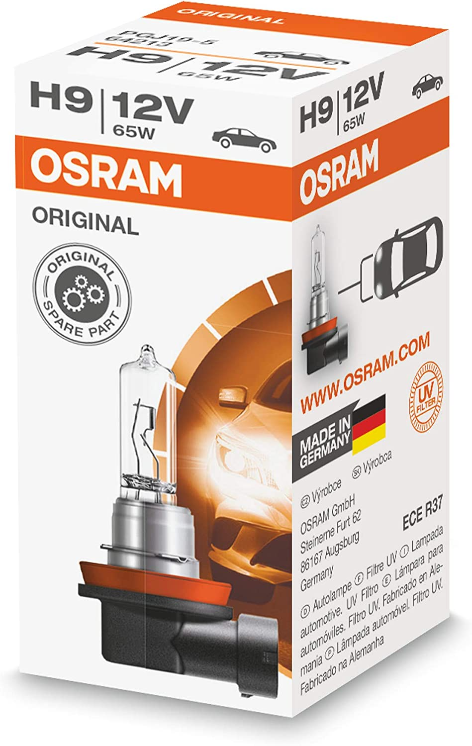 Amazon Com Osram H9 64213 Lamp Bulb Replacement Home Improvement