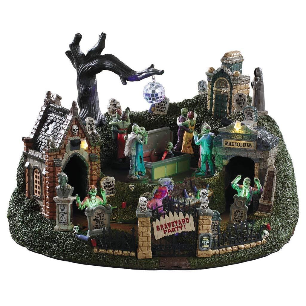 Lemax Halloween Village Graveyard Party