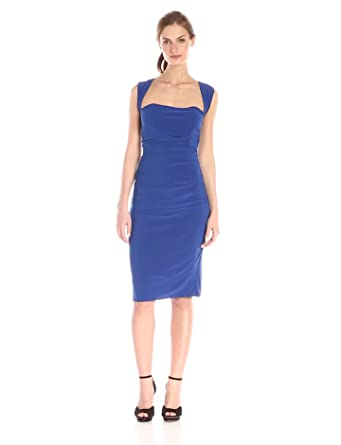 laundry BY SHELLI SEGAL Women's X Back Jersey Cocktail Dress, Blue Beret, 0