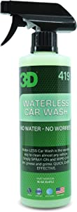 3D Waterless Car Wash - Easy Spray & Wipe Waterless Wash - No Soap or Water Needed - Safe & Effective Formula Great on Cars, RVs, Motorcycles, Boats - 16oz.