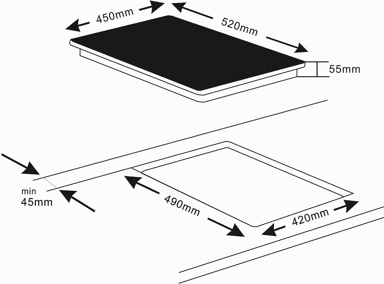 K/&H/® NC-4504SL 3 zonas, sin marco, 45 cm Placa de vitrocer/ámica