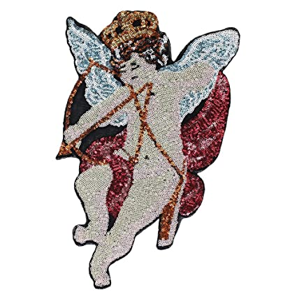 Amazoncom Embroidery Sequins Fairy Crown Wings Cupid Arrow Angel