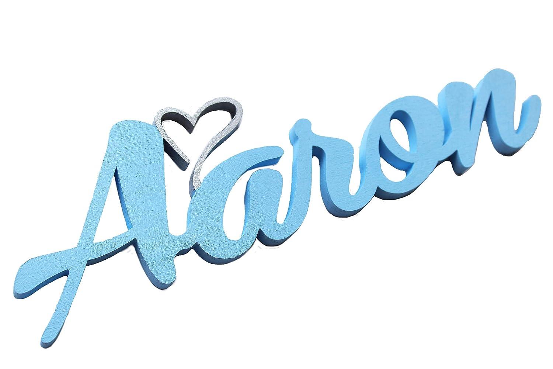 Nombre del niño o niña de puerta placas con corazón,Aaron ...