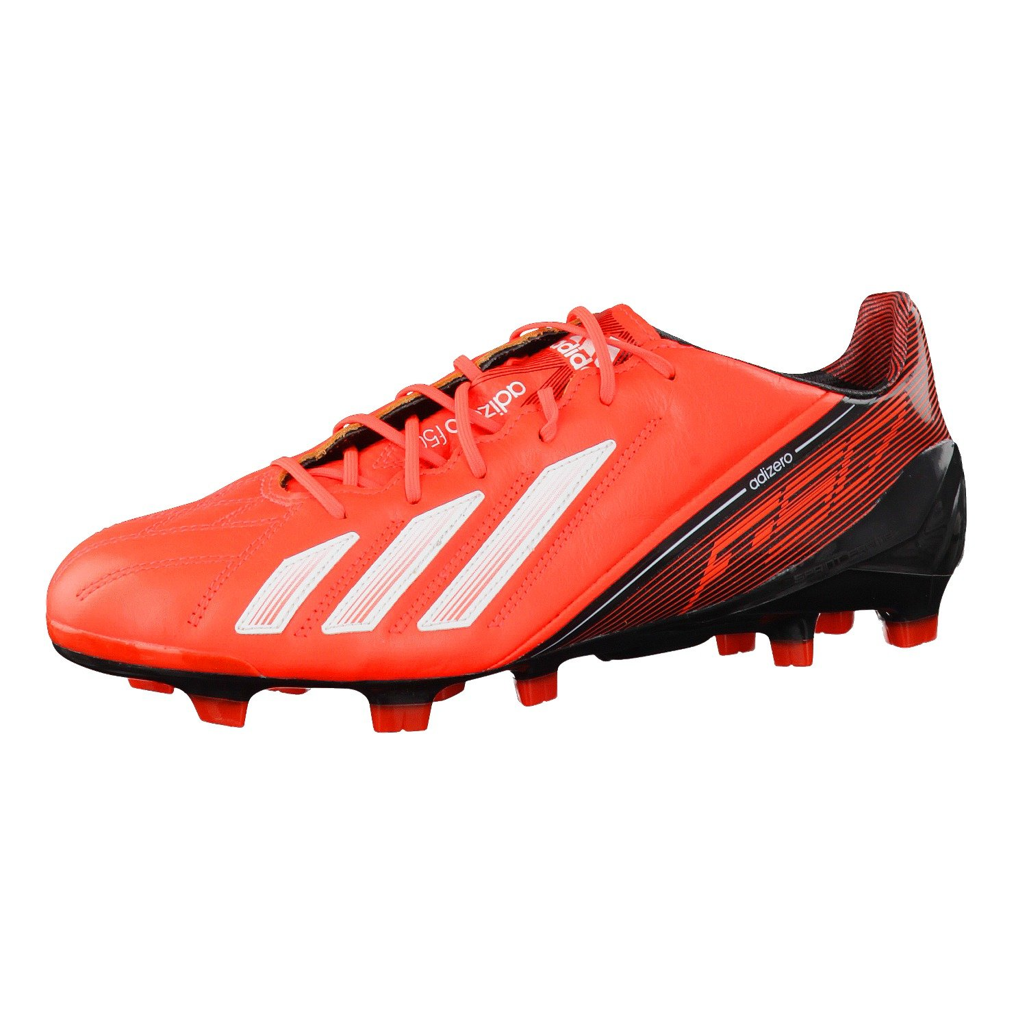 adidas Adizero f50 TRX FG Leather Chaussures de Football Homme Cuir Rouge