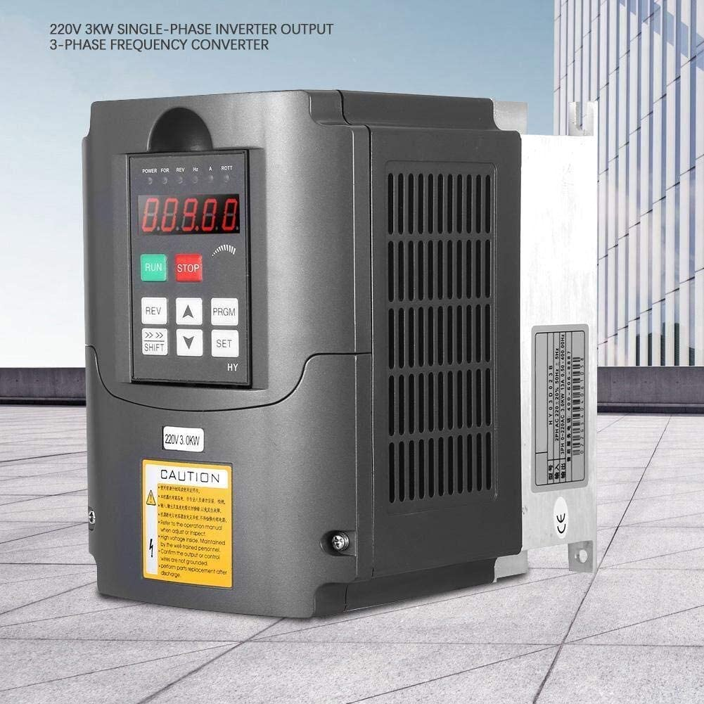 LHQ-HQ 220V 3KW Variable Frequency Drive,400hz VFD Inverter Professional Frequency Converter,Single-Phase Input Three-Phase Output,for Motor Speed Control