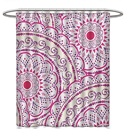 Amazon com: Anhuthree Mandala Shower Curtains 3D Digital