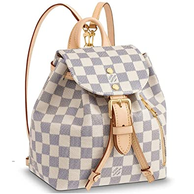 0dd95a4a14d Louis Vuitton Damier Azur Canvas Backpack Handbag Sperone BB Article   N44026 Made in France  Amazon.co.uk  Shoes   Bags